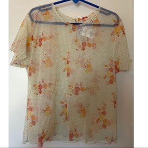 Vintage Dior Polka Dot Floral Top